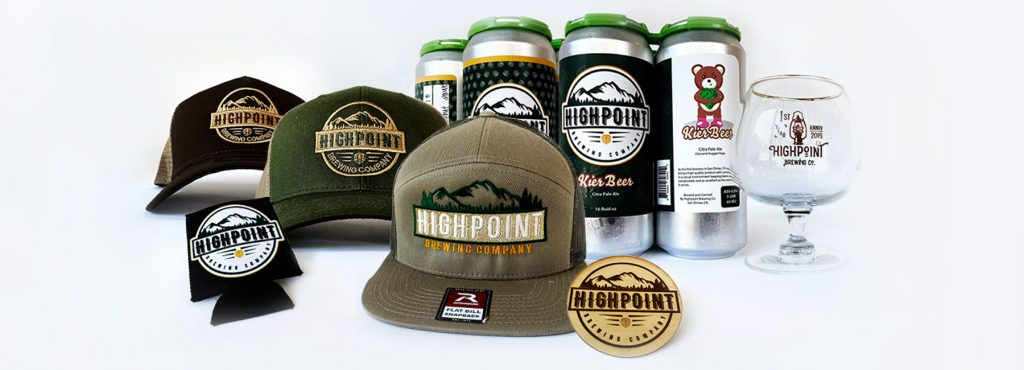Highpoint Brew Co Beers and Merchandise - Upside-Down Label