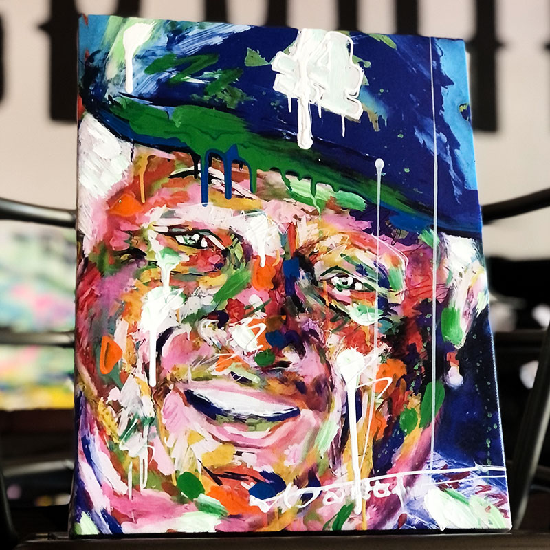Tommy Lasorda Raffle Painting