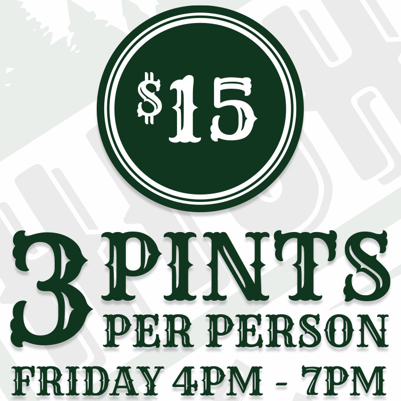 Highpoint Brewing Co. Tap Room Happy Hour Friday