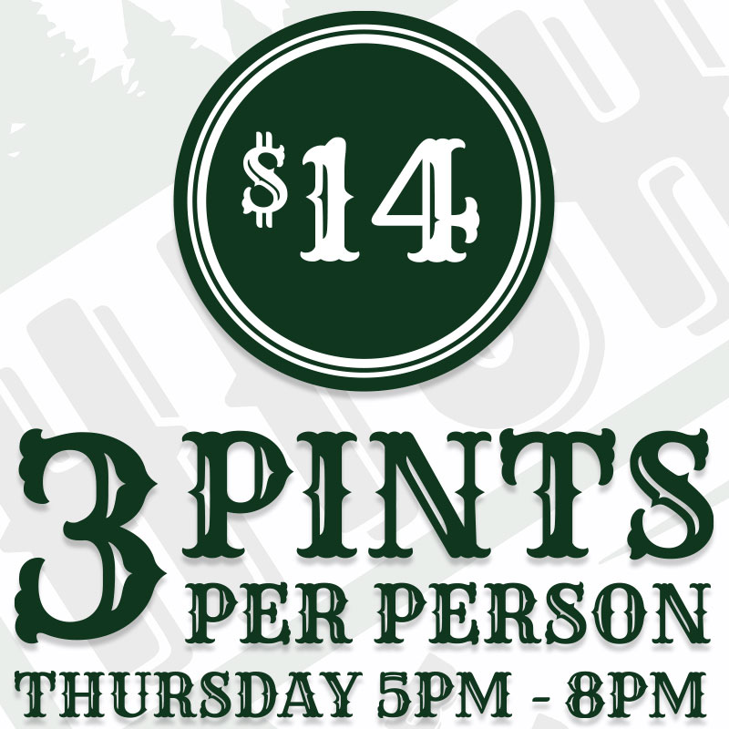 Highpoint Brewing Co. Tap Room Happy Hour Thursday
